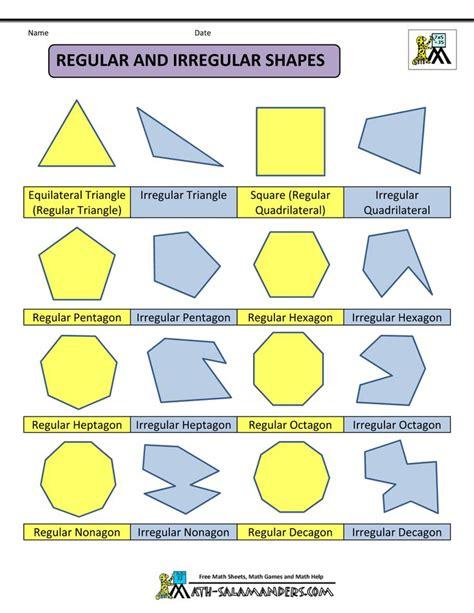 8 Shapes I by Polygon Shapes Regular And Irregular Shapes Col Math