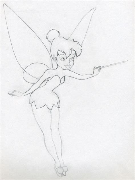Sketches Easy To Draw by Draw Tinkerbell Is Easy