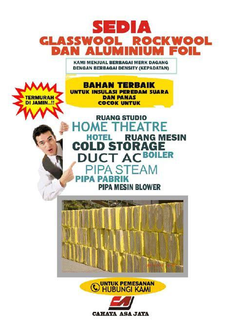 Jual Rockwool Yogyakarta harga rockwool density 80kgm3 termurah harga paling murah