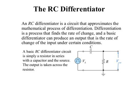 integrator circuit transistor rc and rl differentiator and integrator circuit