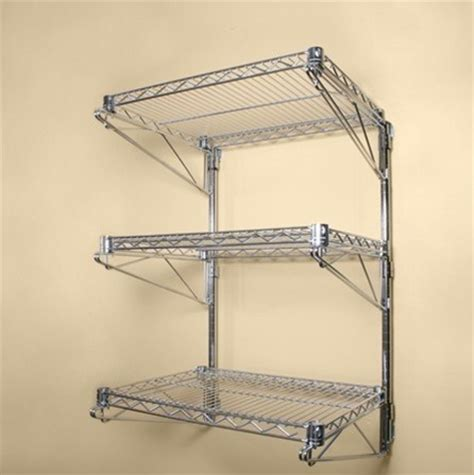 Wall Mount Wire Shelf by Shelves Chrome Wire Wall Mounted Shelving Kit And Wire