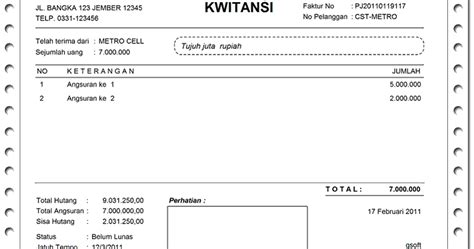 Contoh No Kwitansi by Contoh Kwitansi Pembayaran