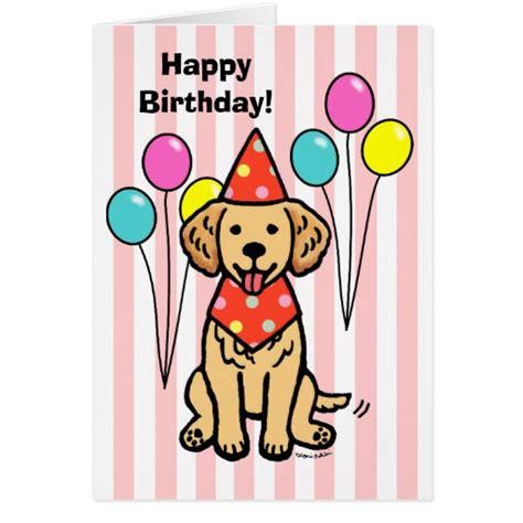 Golden Birthday Card Golden Retriever Puppy Birthday Greeting Card Zazzle