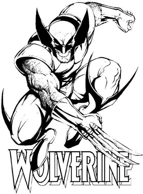coloring pages for wolverine free wolverine and the coloring pages