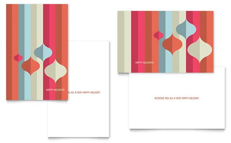 Modern Ornaments Greeting Card Template Design E Card Template