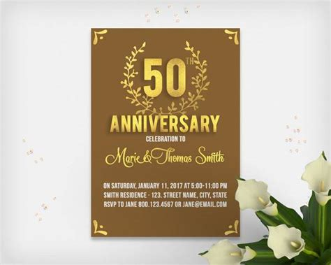wedding anniversary maker wedding anniversary invitation card maker free