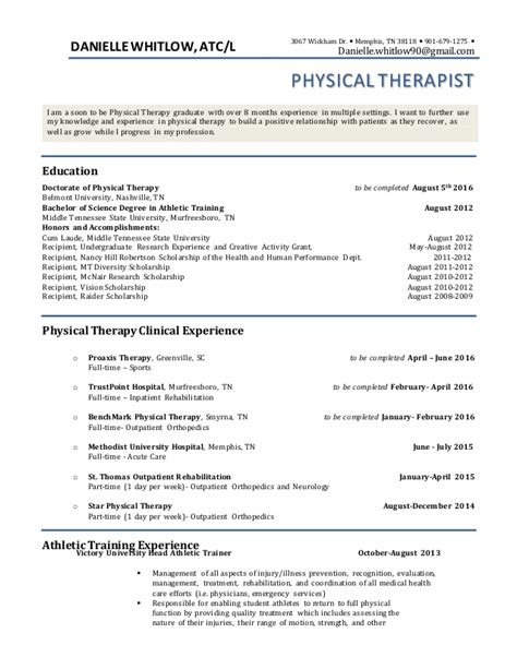 physical therapist cover letter 64 images resume