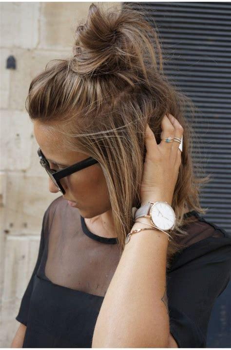 hairstyles top buns girl in black derbies top bun short hairstyles and