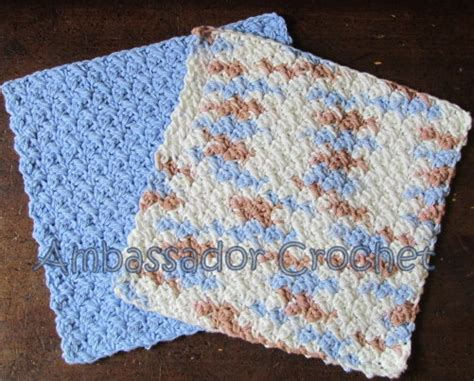 grit stitch dishcloth v 2 free crochet pattern