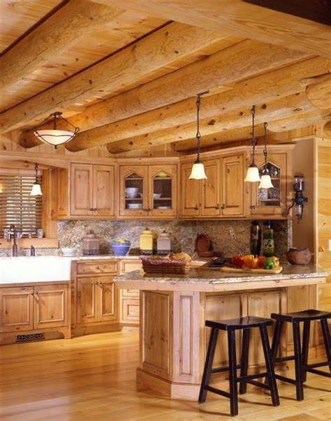 Log Cabin Lighting Ideas by Modern Log Home Kitchen Log Home Ideas