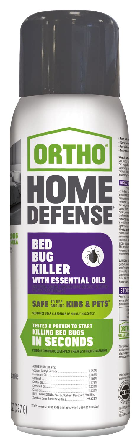 ortho 174 home defense 174 bed bug killer with essential oils