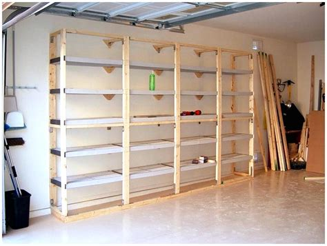 have collection garage wall shelving ideas various styles build storage shelves home design