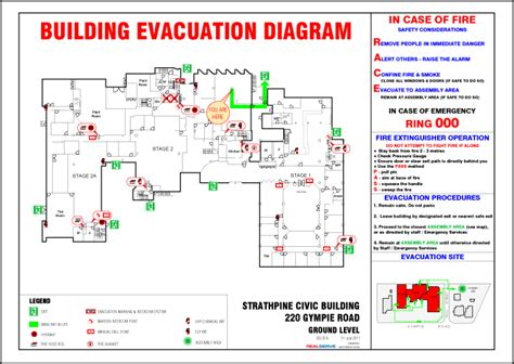 Building Fire Safety Compliance Requirements Sunstate Strata Emergency Evacuation Route Template