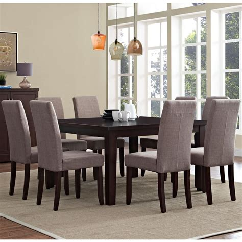 simpli home acadian 7 light mocha dining set simpli home acadian 9 light mocha dining set axcds9 aca lml the home depot