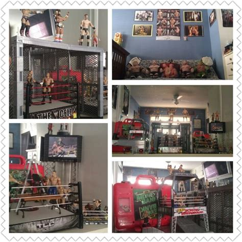 wwe bedroom decor my son s bedroom wwe themed we love wwe pinterest
