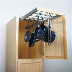 hanging pot rack in cabinet knape vogt pot pan pantry pull out cabinet organizer