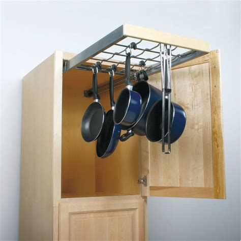 Pull Out Hanging Pot Rack by Knape Vogt Pot Pan Pantry Pull Out Cabinet Organizer