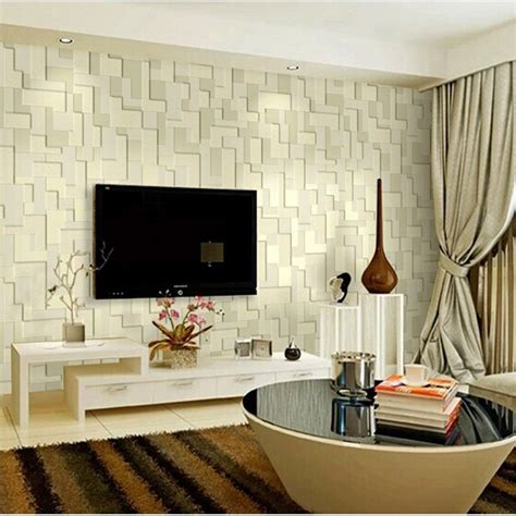 Living Room Tv Background Mural Embossed Stereoscopic Mosaic Minimalist Bedroom