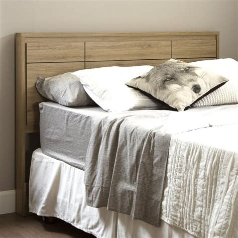 oak headboards queen south shore gravity wood queen panel headboard in rustic