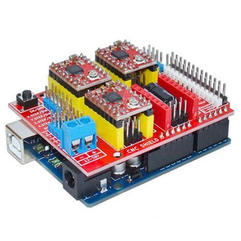 Arduino Cnc Shield V3 4 Driver A4988 arduino uno arduino cnc shield v3 0 a4988 installation