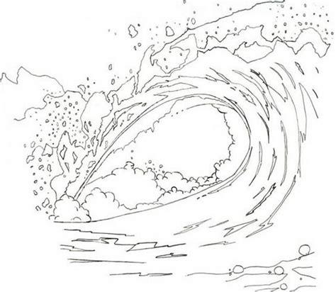 dibujo barco con olas olas dibujos para colorear