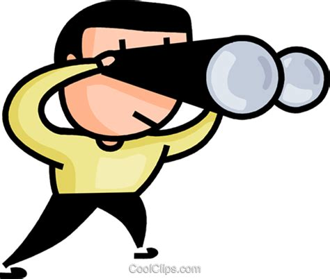 find clipart searching with binoculars royalty free vector clip