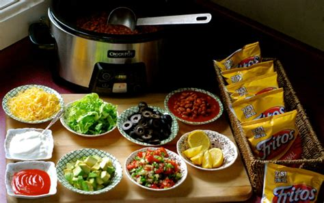 taco bar topping ideas crock pot walking taco bar chindeep