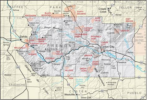 County Colorado Records Map Of Fremont County Colorado My