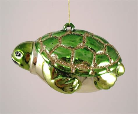 coastal tropical ocean sea turtle christmas ornament