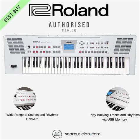 roland bk   key backing keyboard white color key arranger keyboard   note polyphony