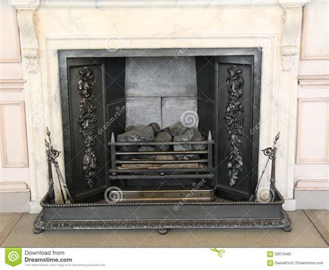 Vintage Metal Fireplace by Cast Iron Fireplace Stock Image Image Of Hearth Surround 58079485