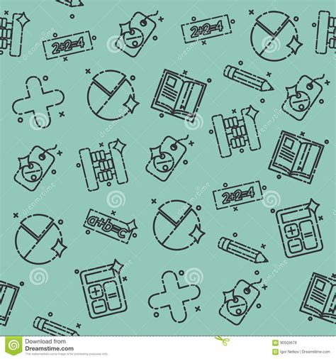 pattern vectors from algebraic graph theory algebra concept icons pattern vector illustration
