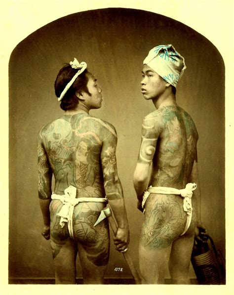 japanese yakuza tattoo world of japanese tattoos circa late 1880s vintage