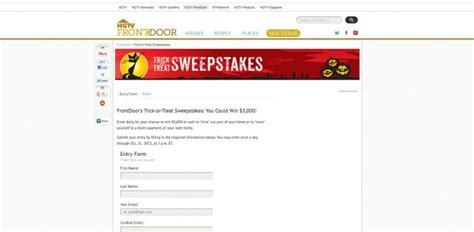 Frontdoor Com Sweepstakes - front door sweepstakes entry form upcomingcarshq com