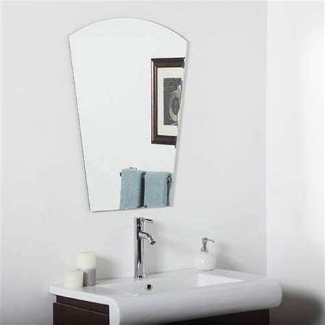 bevelled bathroom mirror beveled frameless bathroom mirrors bellacor