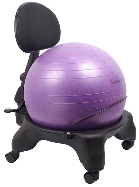 swiss ball desk chair exercise ball office chair black 52cm ball adjustable