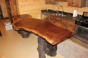 Wood Slab Bar Wood Countertops Rustic Home Bar Nashville