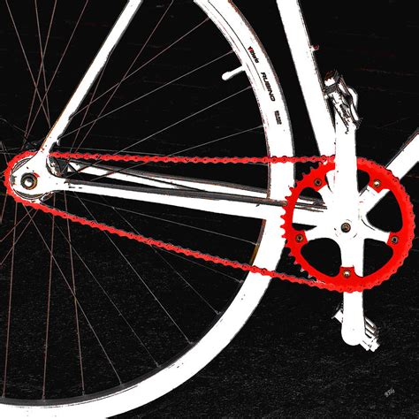 Spinning Bike America White bike in black white and no 2 by ben and raisa gertsberg royalty free and rights managed