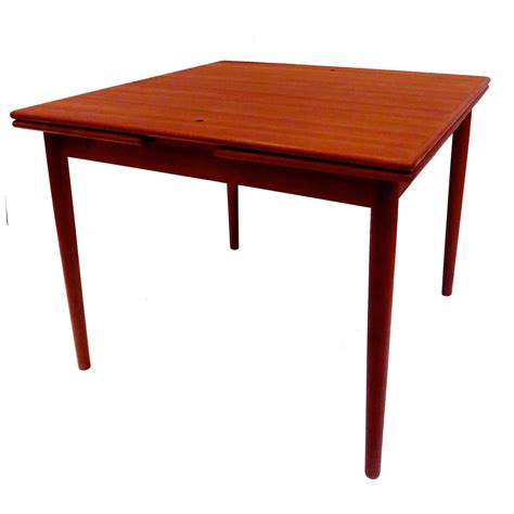 Leather Dining Table Georg Petersen Modern Flip Top Teak And Leather Dining Table 2 Leaves At 1stdibs