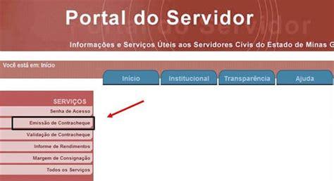 Portal Do Servidor Minas Gerais | portal do servidor mg contracheque como consultar