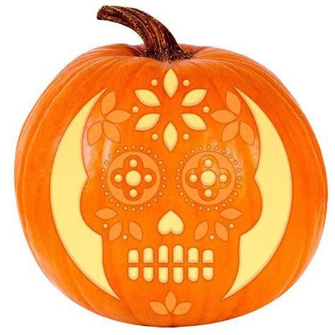 dia de los muertos pumpkin template 1 million carved these pumpkins