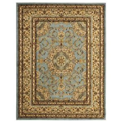 5x7 Area Rug Home Depot Ottomanson Traditional Medallion Light Blue 5 Ft 3 In X 7 Ft Area Rug Ryl1076 5x7