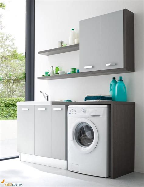 Laundry Room Vanity Cabinet Stylish Laundry Room Decoration Ideas With Small Vanity Cabinet And Washing Machine