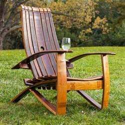 wine barrel chair plans wine barrel adirondack chair