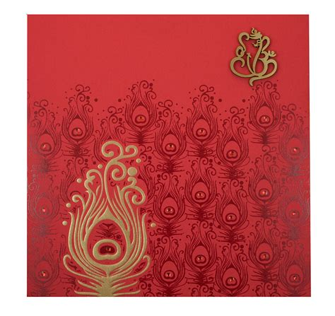 wedding card templates hindu hindu marriage invitation card in and golden peacock