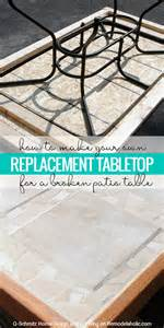 Patio Table Parts Replacement by Remodelaholic How To Replace A Patio Table Top With Tile