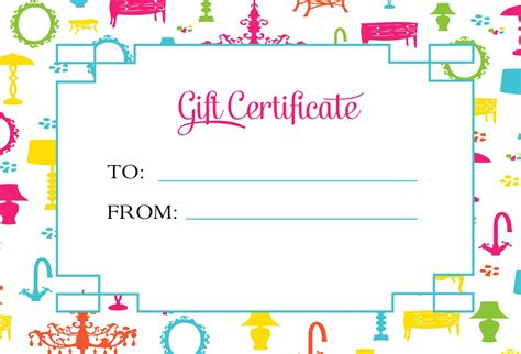 Gift Certificate Template for Kids Blanks   Loving Printable