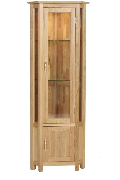 Corner Cabinate by Bryer Oak Corner Display Cabinet