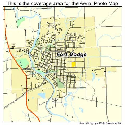 aerial photography map of fort dodge ia iowa