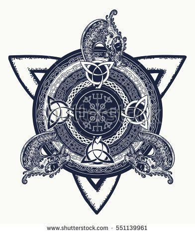 trinity cross tattoo celtic cross and t shirt design dragons